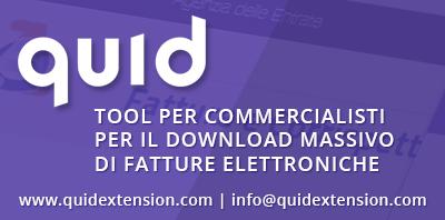 QuID Tool per il download massivo di fatture elettroniche